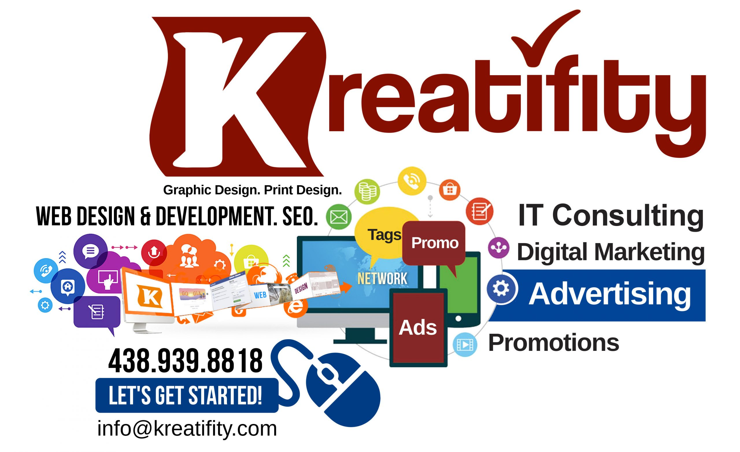 Web Site & Print Design, Affordable Internet Marketing Services by KREATIFITY MARKETING